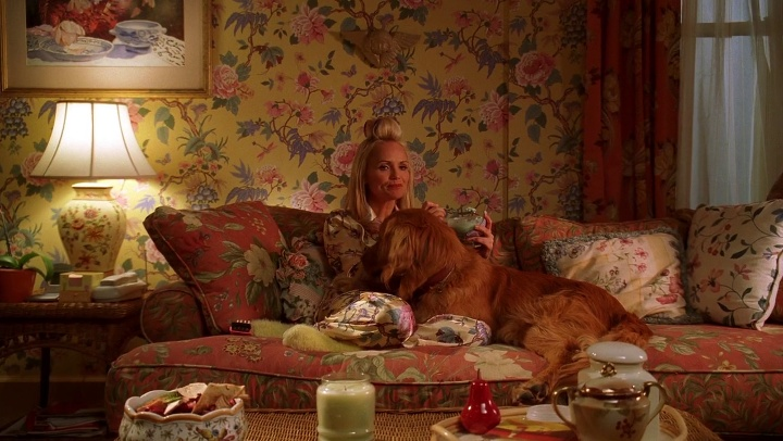 """red sofa pillows slipcover recliner production design of """"pushing daisies"""" – interview with ..."""