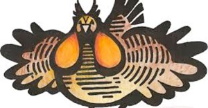 The Prairie Chicken, logo of the 2014 Grassroots Radio Conference