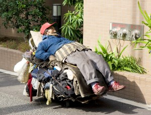 Homeless disabled man in Toyko. Photo from Wikipedia/homeless