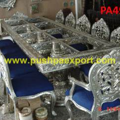 See Through Dining Chairs Best Standing Desk Chair Carving Silver Table And