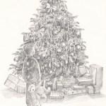 Christmas Tree Illustration by Walter Hayn