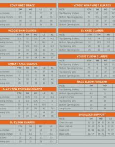sizechart padsg also pushys sizing charts for clothing helmets and shoes rh