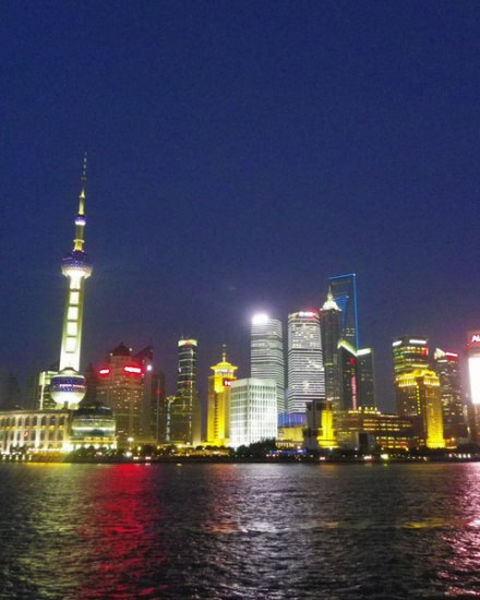 Shanghai Pudong by night