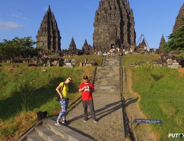 Selfie drone - Prambanan temple