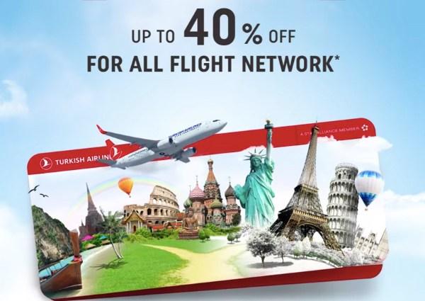 Turkish Airlines akcija – 40% popusta i flex karta