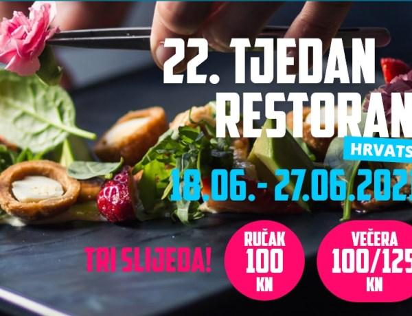 22. Tjedan restorana – slijed od 3 jela za samo 100 kn