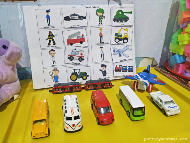Toy rotation tema transportasi