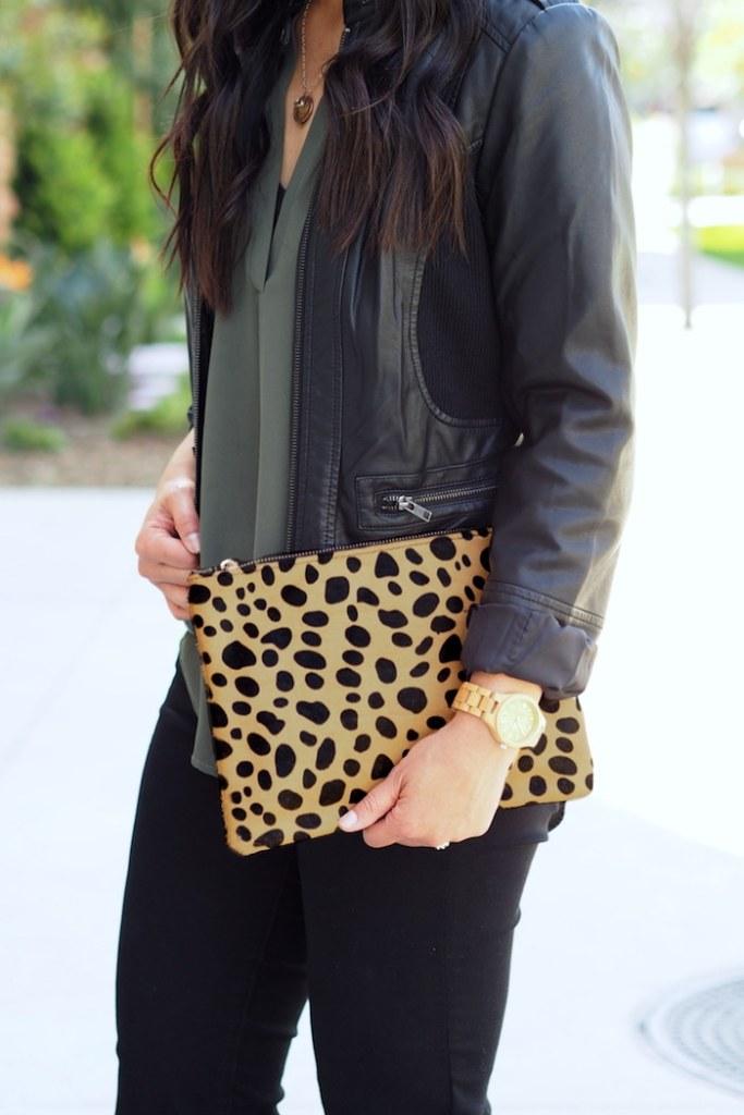 leopard + olive + black