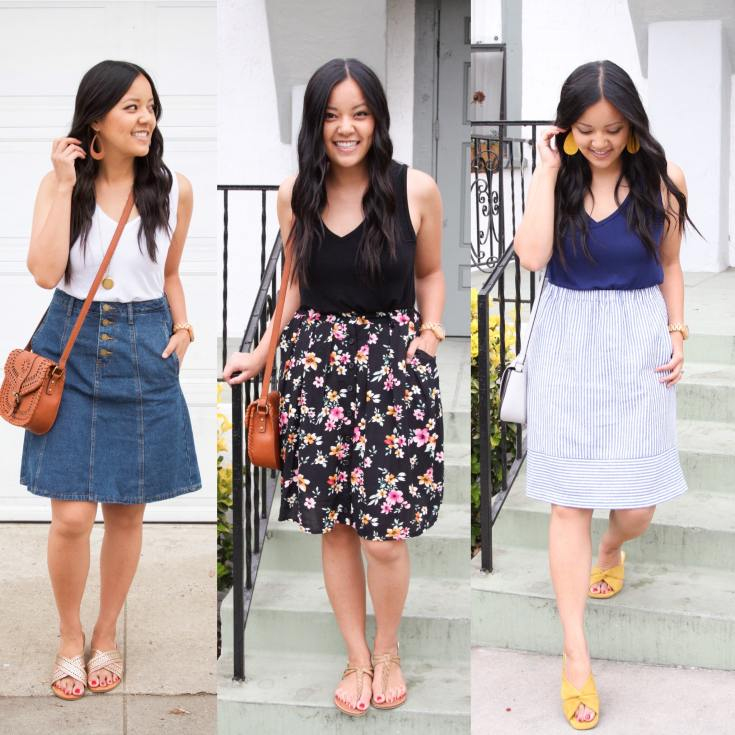 Summer Outfits with Skirts to Breastfeed In