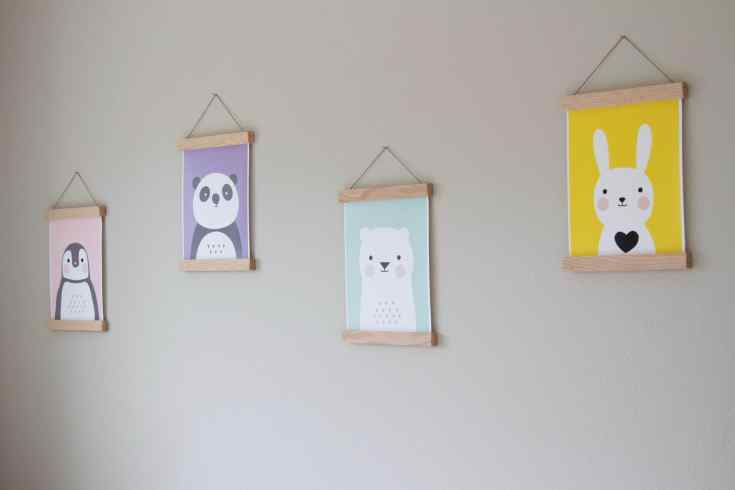 Wall Printables little girl's room