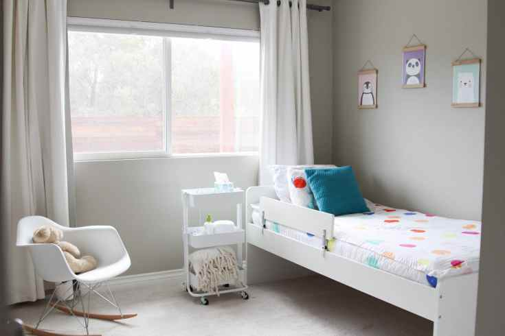 Modern toddler girl bedroom
