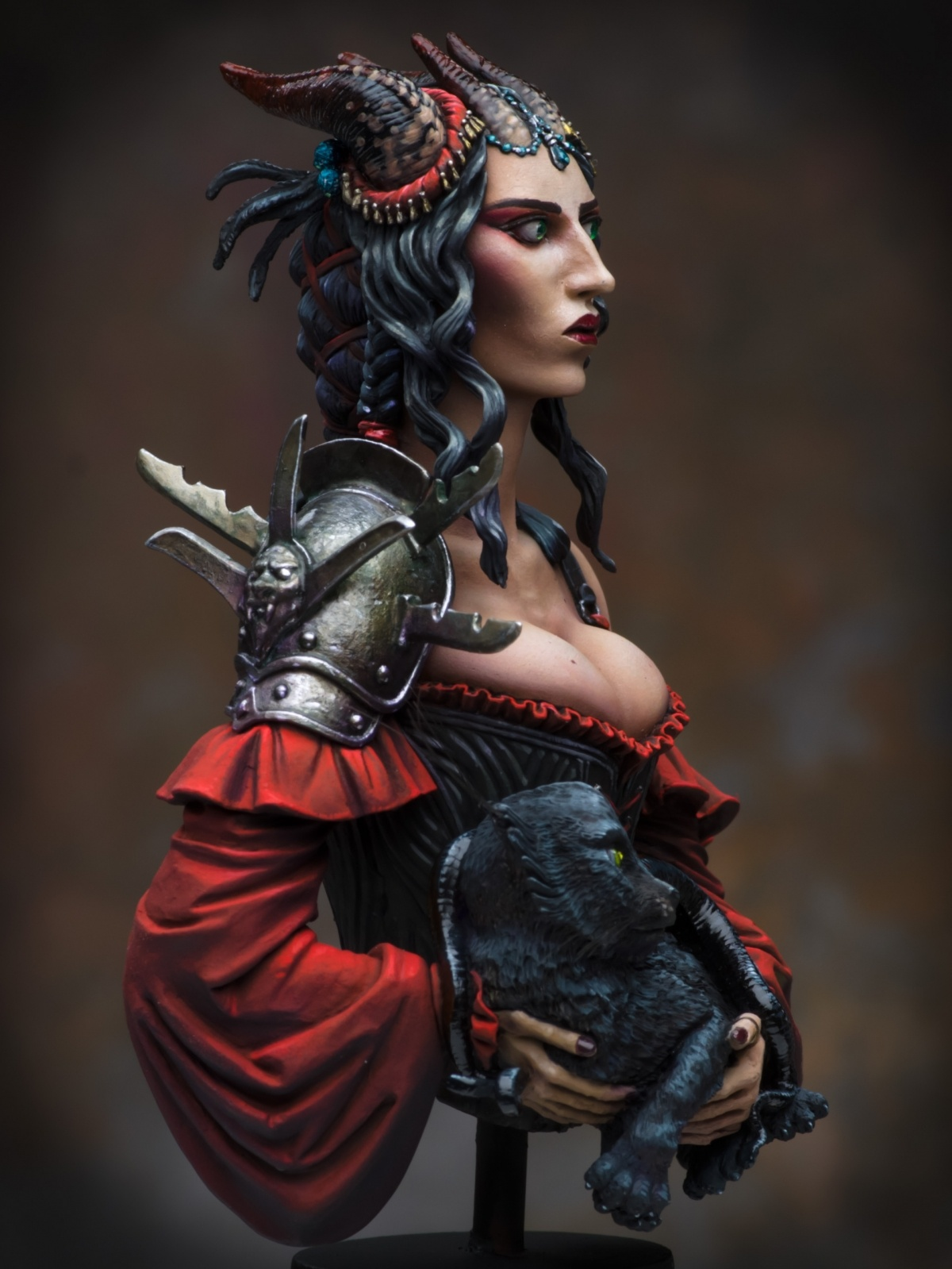 Portrait of a Young Tiefling by Raffaele Picca  PuttyPaint