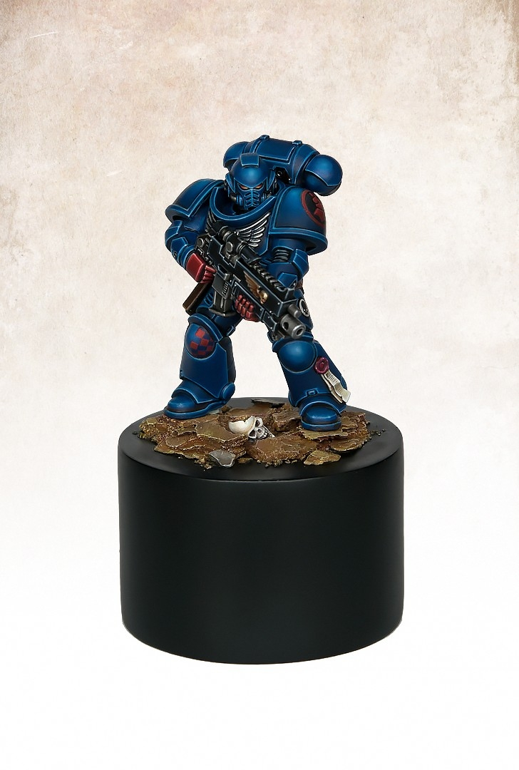 Primaris Crimson Fist Marine by Max Faleij  PuttyPaint