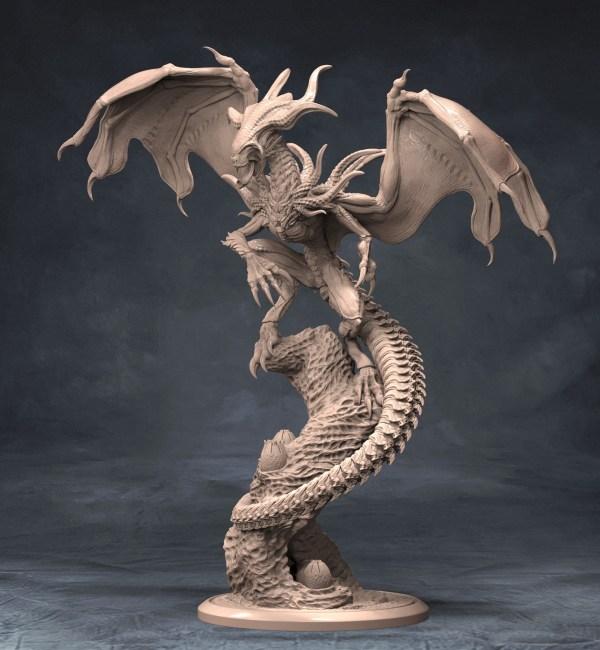 Xenomorph Dragon Sculpture Putty&paint