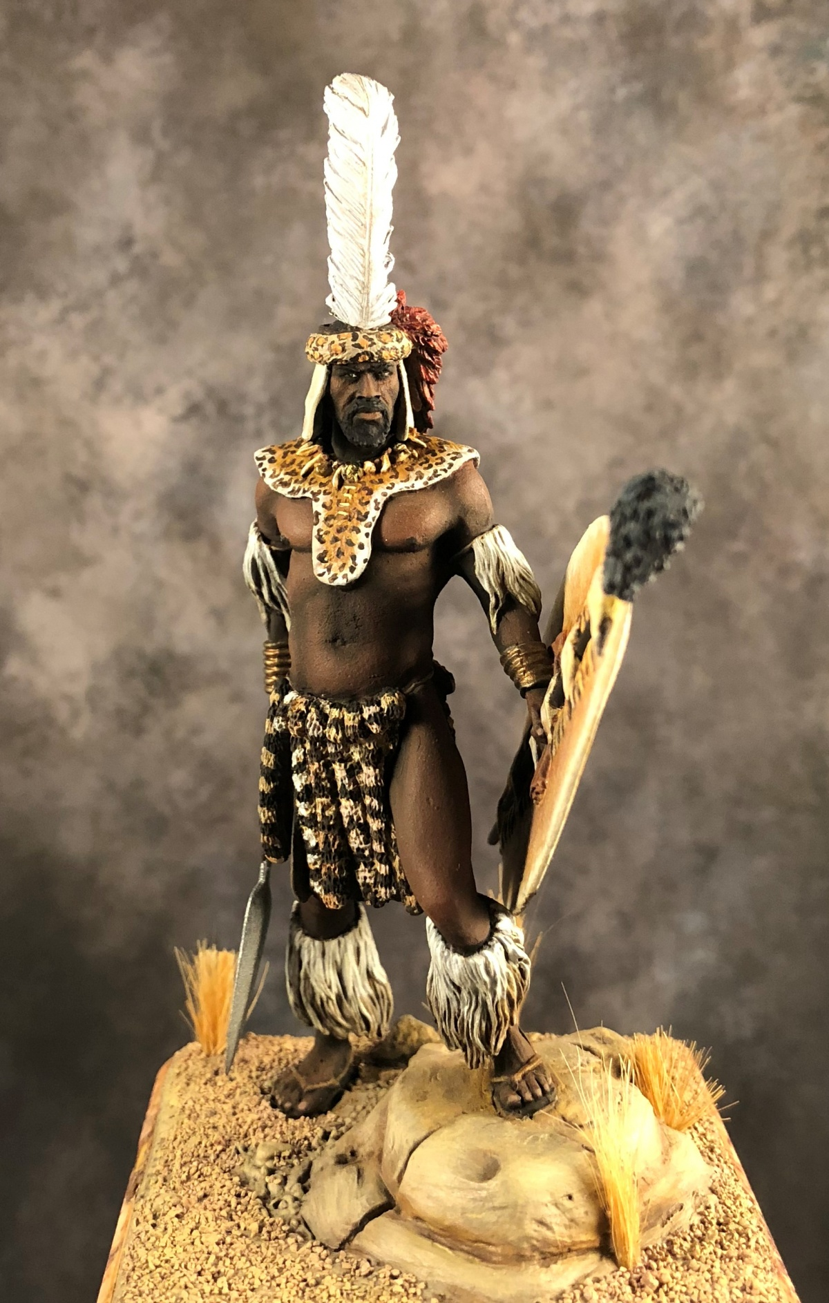 Zulu Warrior by Juan Ignacio Corujo  PuttyPaint
