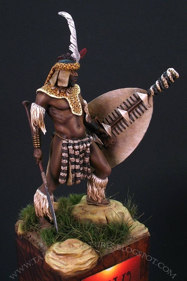 Zulu Warrior By Milan Quot Taiko Quot Dufek 183 Putty Amp Paint