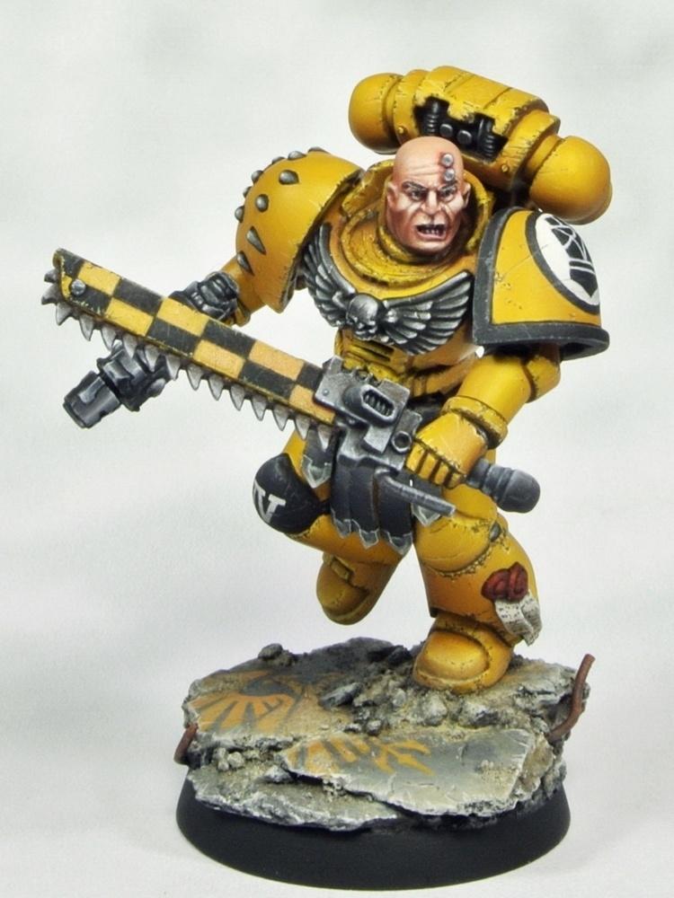 Imperial Fists Veteran Sergeant by Thor Intararangson
