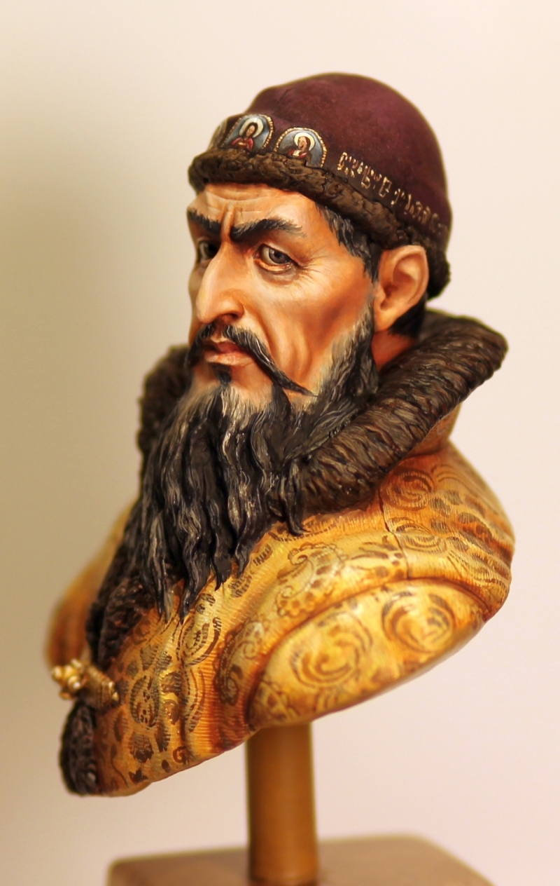 Tsar Ivan IV The Terrible sculpted  painted by me by Olga