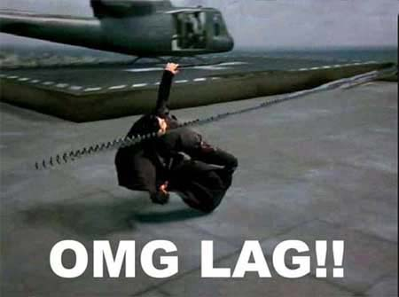 Neo dando lag