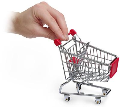 Organizador Mini carrinho de compras