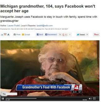 104 anos facebook