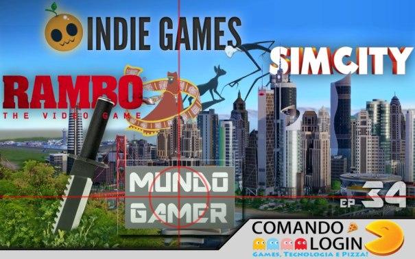 Mundo Gamer ep 34 - Sim City, Rambo e Indie Games Sobre outros podcasts