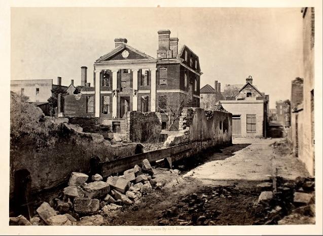Ruins of the Pinckney Mansion, Charleston S.C. (1865) George N. Barnard