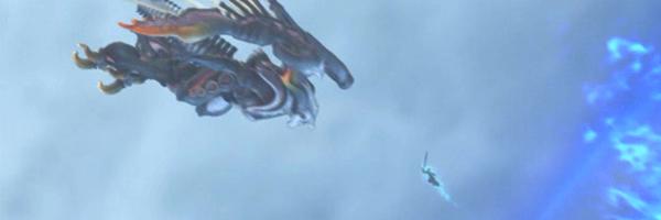 Bahamut contra Cloud: uma das cenas mais emocionantes sobre a necessidade de termos companheiros para nos apoiar. (Final Fantasy: Advent Children, 2005)