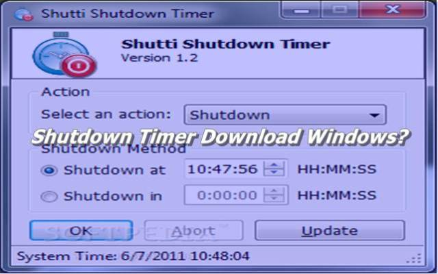 Shutdown Timer Download Windows
