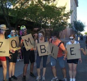 Scrabble Words Zombie Halloween Costume