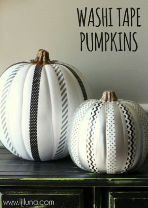 Washi Tape Pumpkins Tip