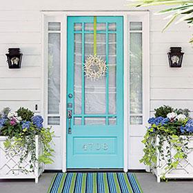 Painting Front Door of Home