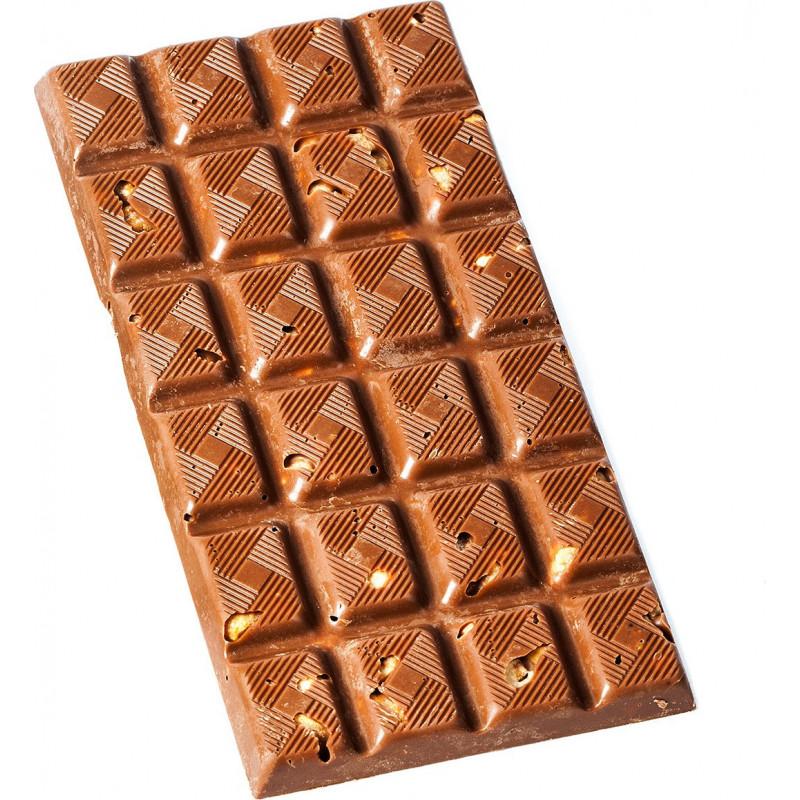 tablette chocolat lait noisettes caramelisees