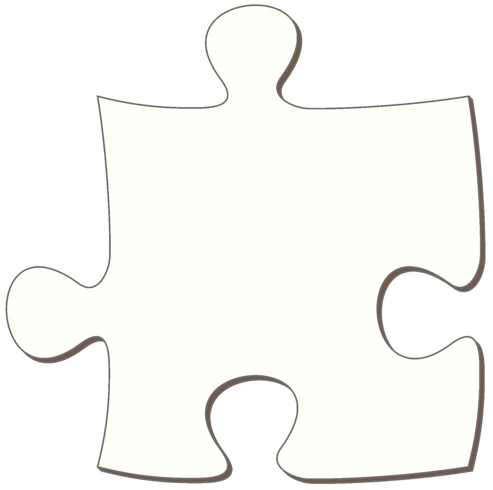 4 Piece Puzzle Template