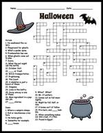 Halloween Word Scramble Puzzle