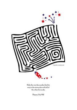 July Fourth Maze