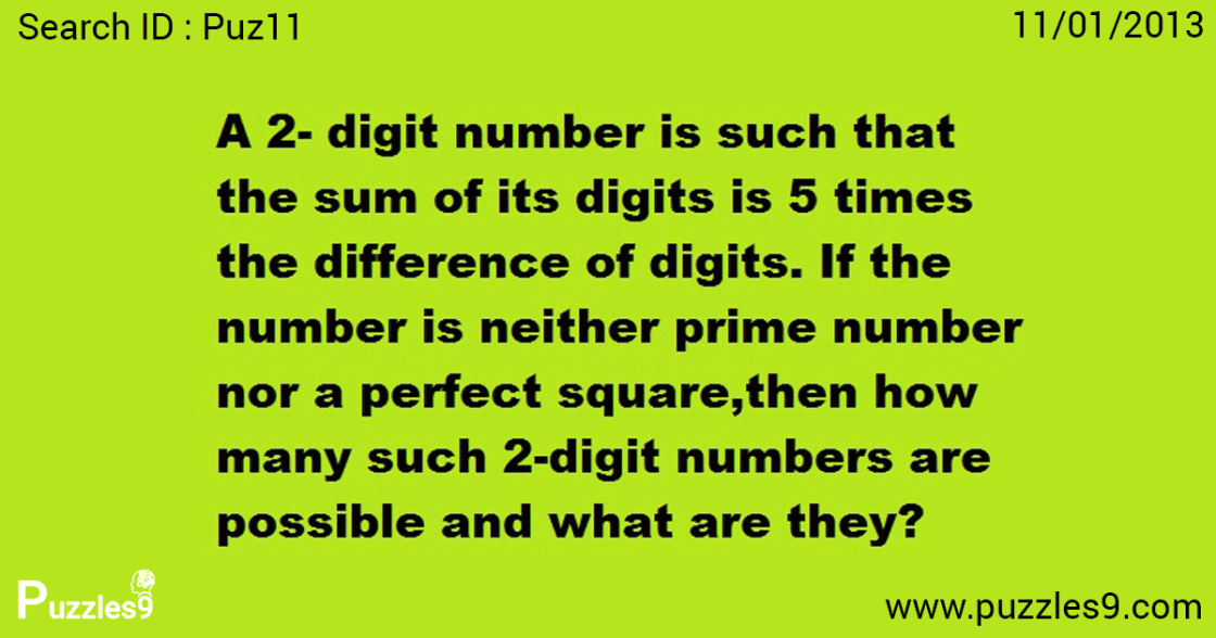 Is Finding 2 digit number difficult here? : Maths Logic Puzzles | puz11