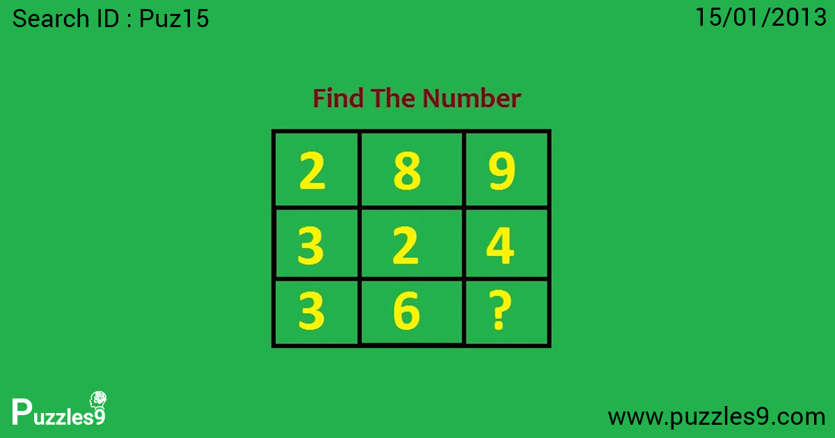 What number is missing in this box? : Missing Number Puzzles
