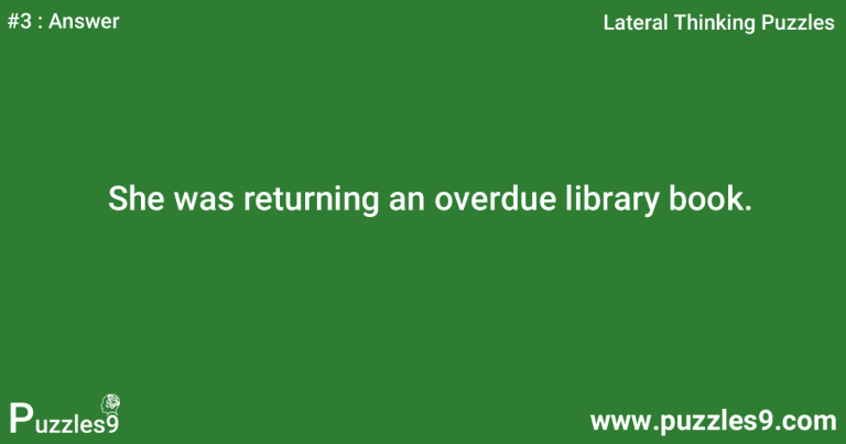 #3 Answer - Woman in Library lateral thinking questions