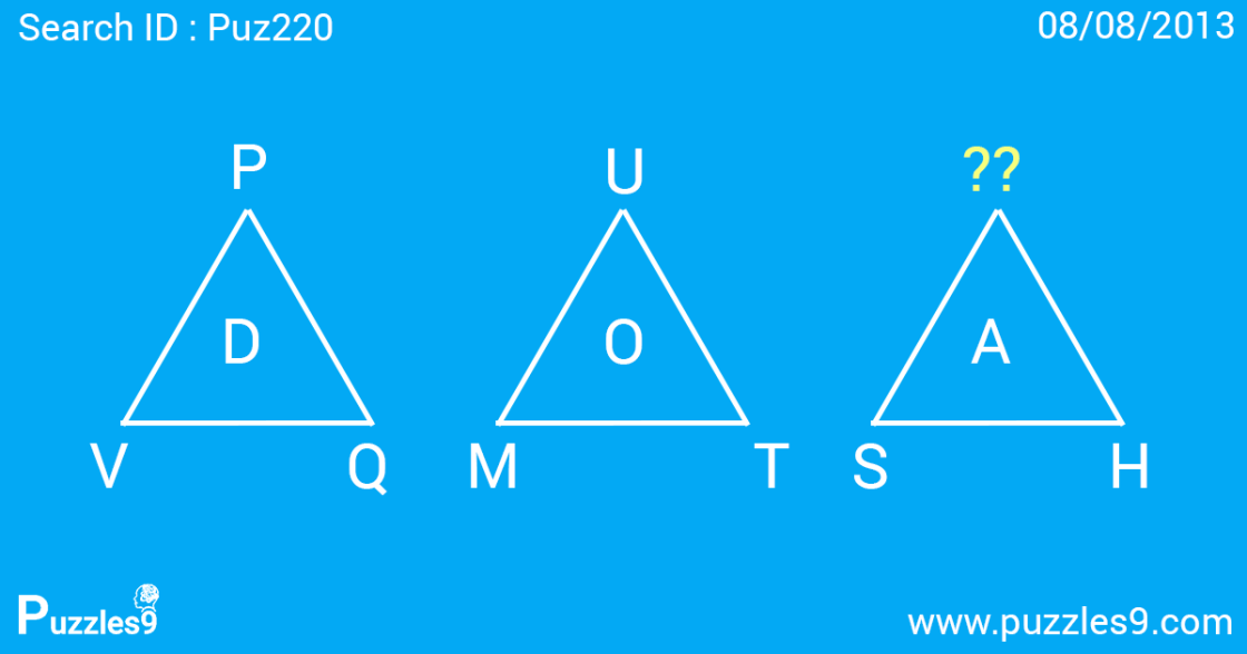 Triangles makes Missing number puzzles with answers | Puz220