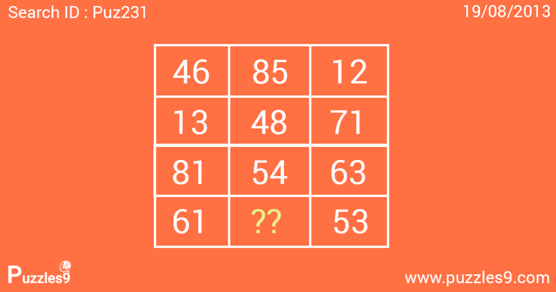 which number goes in the empty circle - daily puzzle- puz231