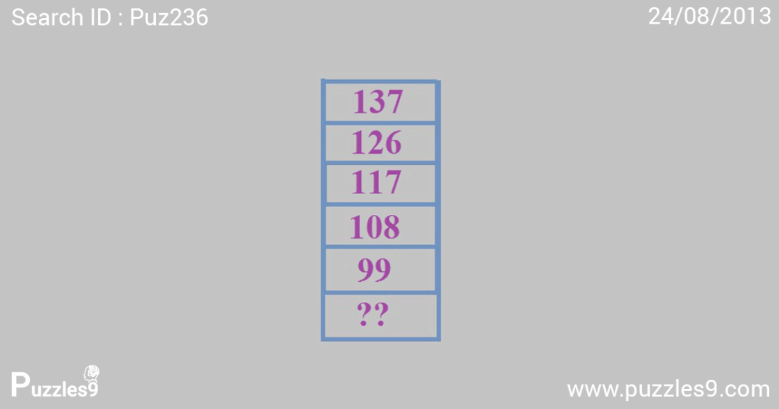 Find the missing number in the math puzzle : Puzzles9 | puz236