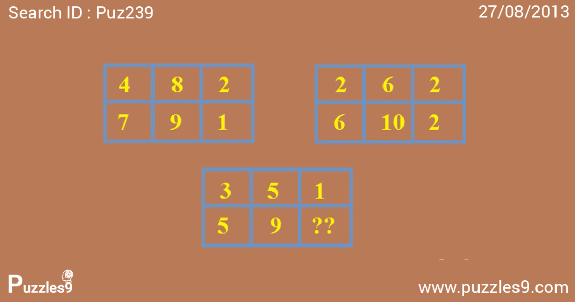 missing number in third box : number sequence puzzles with answers | puz239