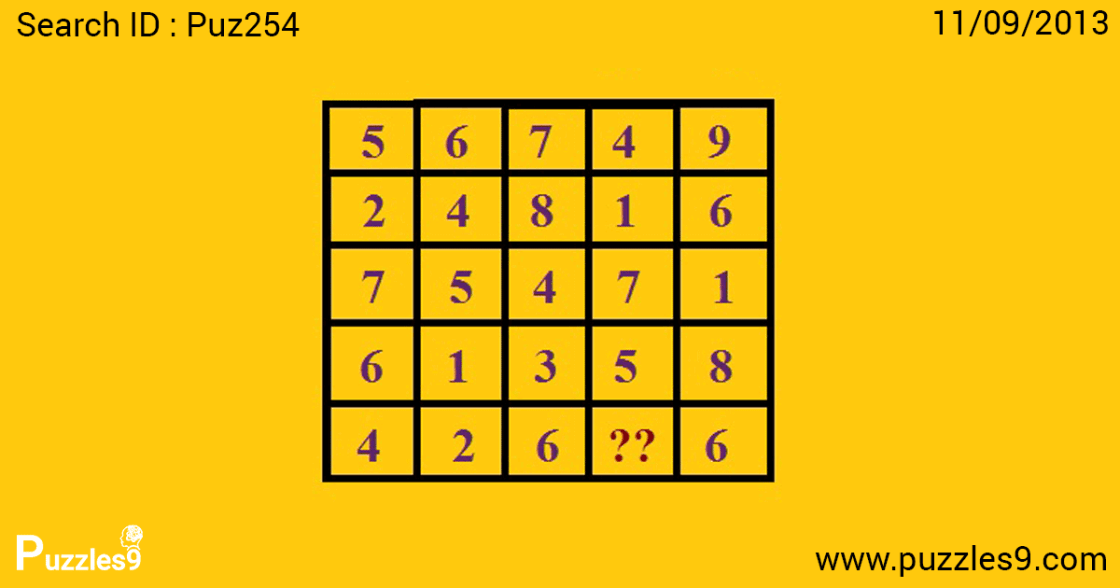 find the missing number in this mind number sequence puzzle | puz254