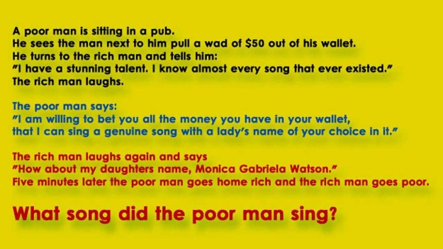 what-song-poor-man-sing-riddle-answer.