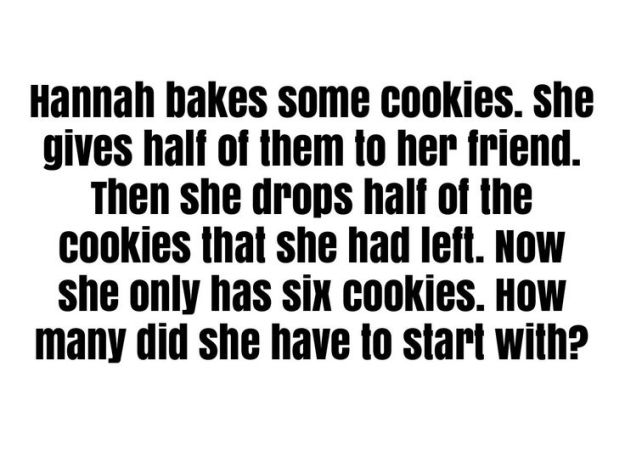 Hannah Cooies riddle with answer