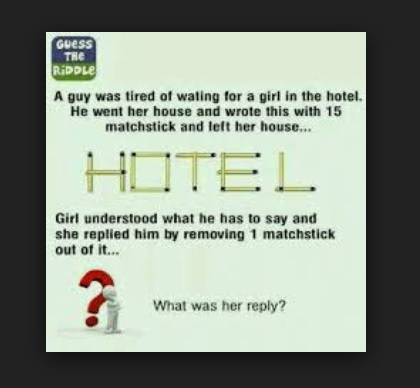 What was her reply? - Hotel Brainteaasers
