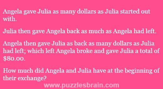angela and julia dollar puzzles with answer