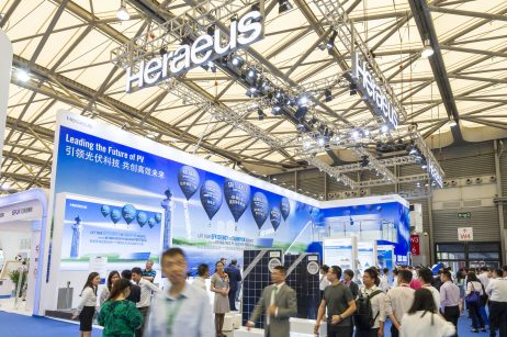 May 28, 2018, Shanghai, China - SNEC trade show.