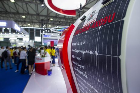 June 5, 2019, Shanghai, China - SNEC solar trade fair.